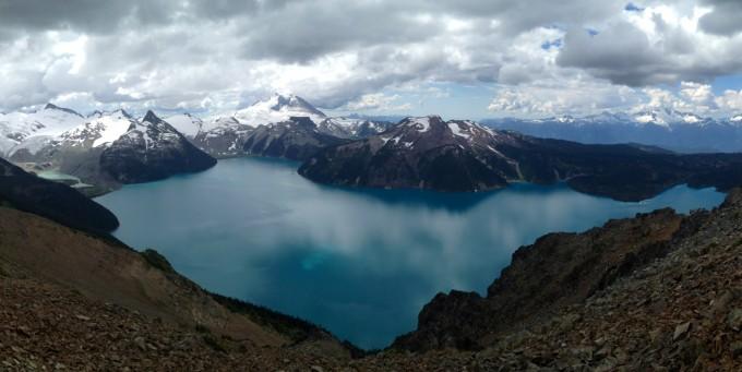 View of Garibaldi Lake from Panorama Ridge.