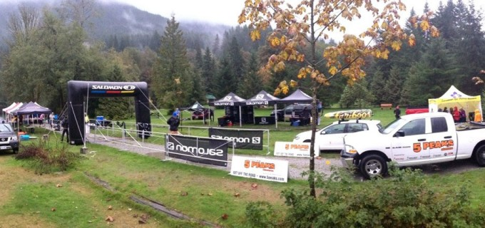 Setting up for 5 Peaks Buntzen