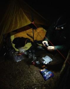 Our make-shift campsite