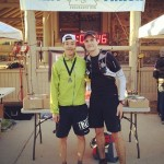 Hoz and I at the Finish Line