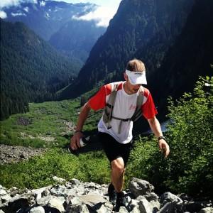 Karl climbing up Crown Pass