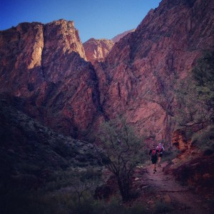 Leaving Phantom Ranch