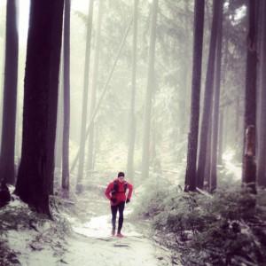 Running near Lynn Peak