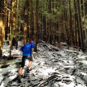 Dave Running up Lynn Peak