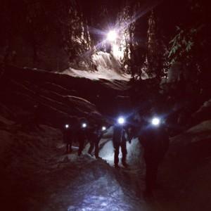 Night Snowshoe Run at Seymour