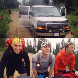 Adventurous start to the race.