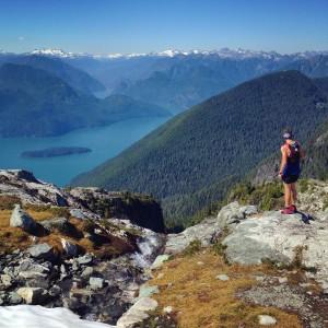 Matt taking in the view of Pitt Lake