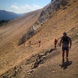 Scree slope on Sheba Ridge