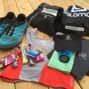 Kit and drop bags for Sun Mountain 100k
