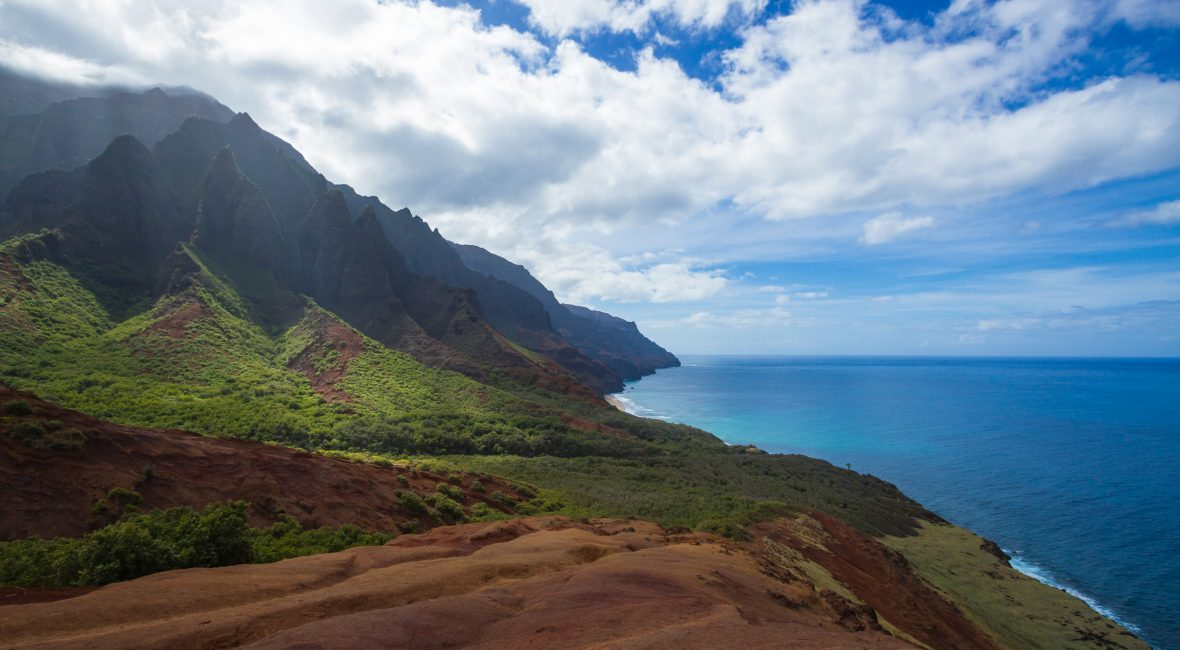 The beautiful Kalalau Trail