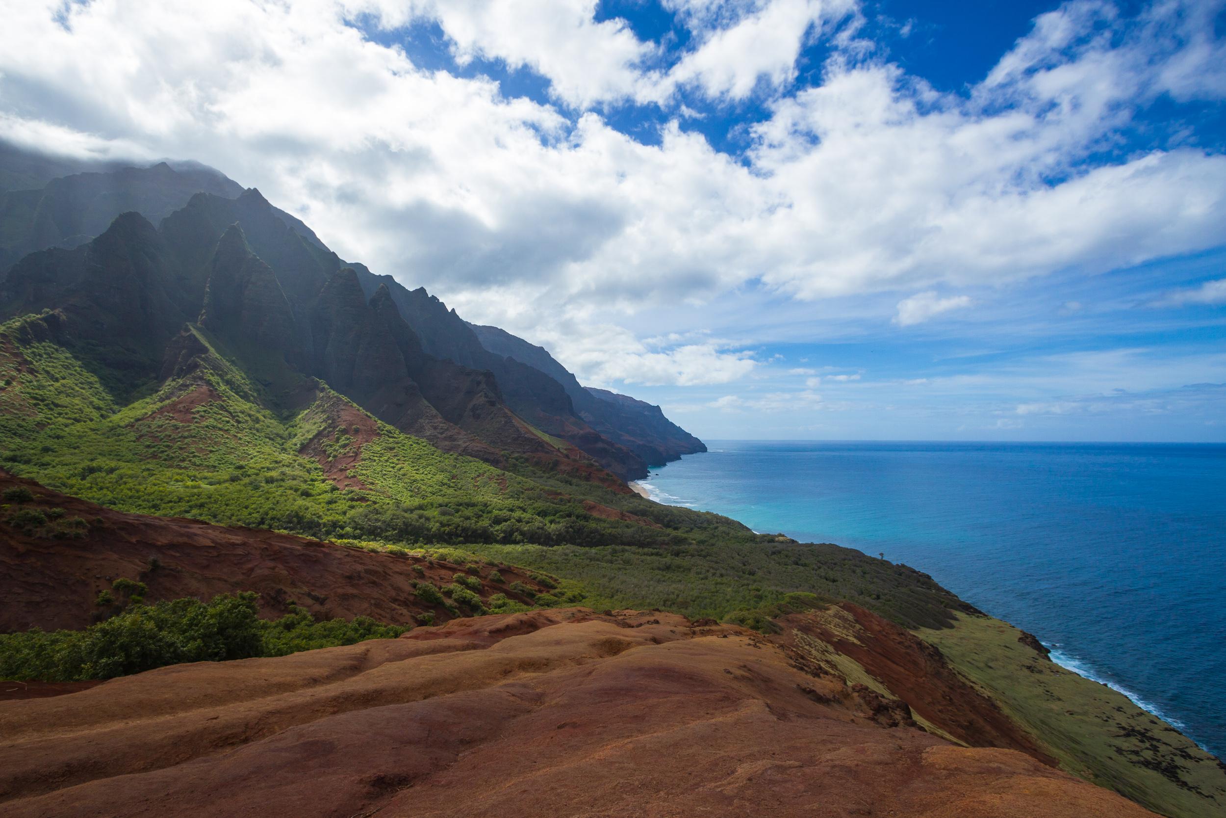 The beautiful Kalalau Trail